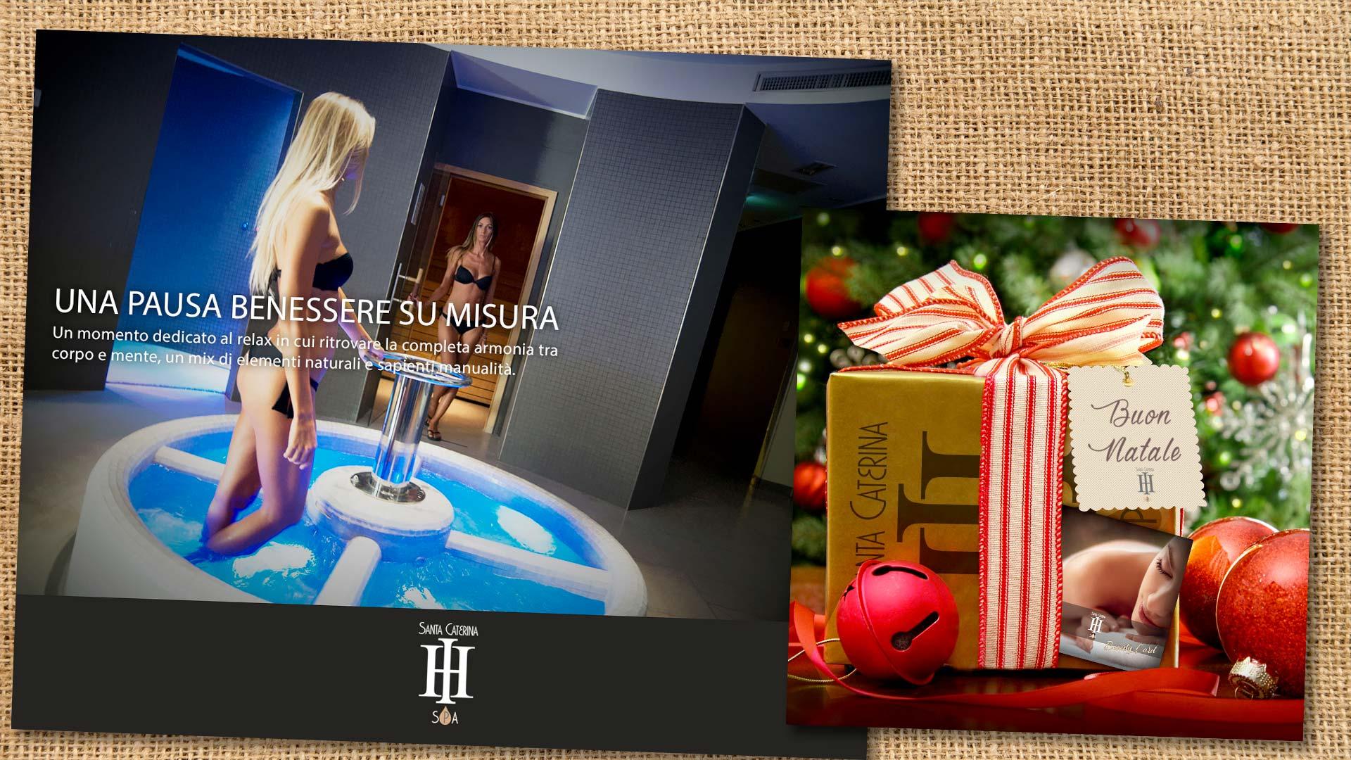 regali di natale santa caterina beauty farm -Grafica pubblicitaria La Spezia