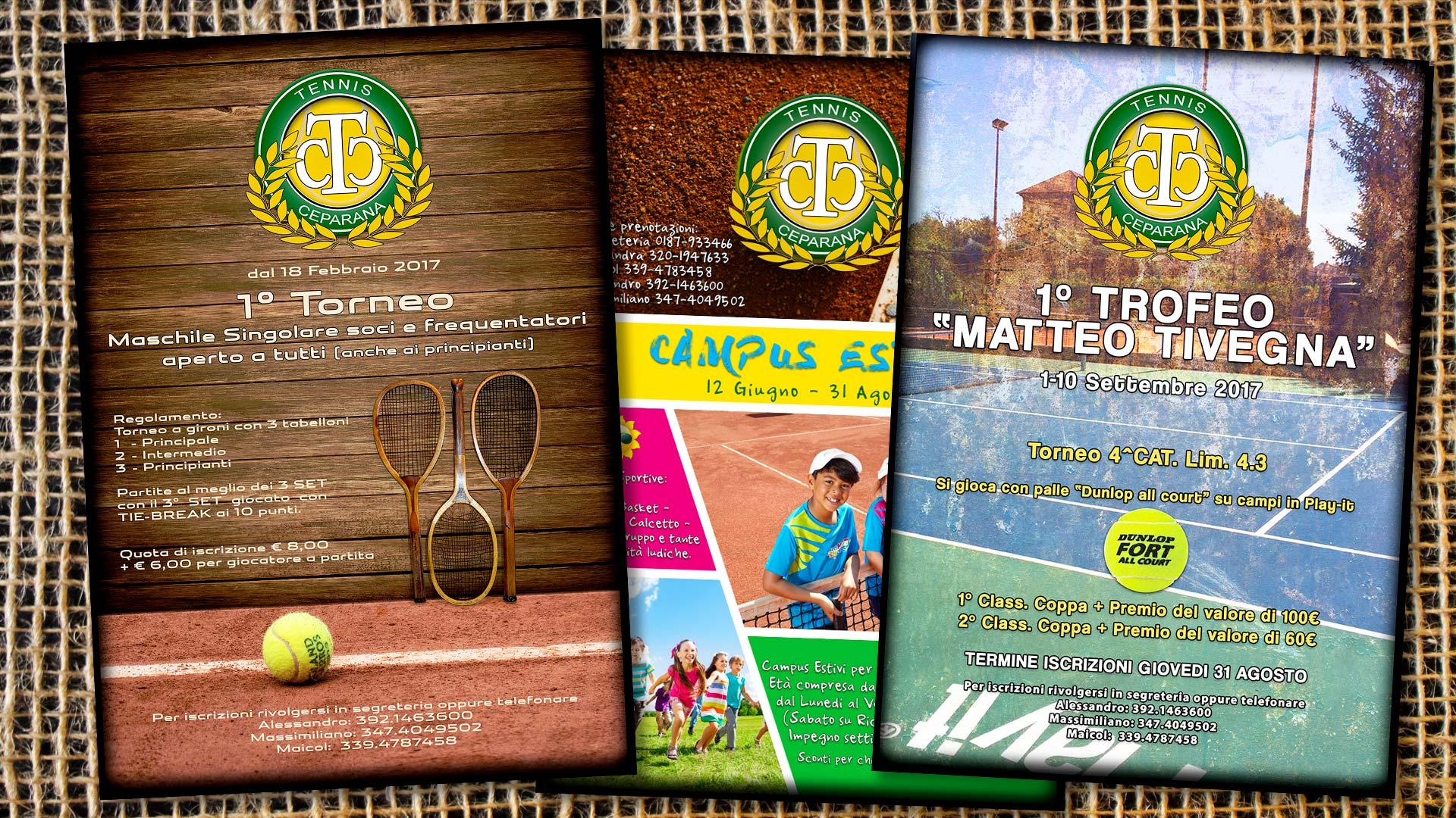 Grafica pubblicitaria La Spezia - Locandine tornei tennis