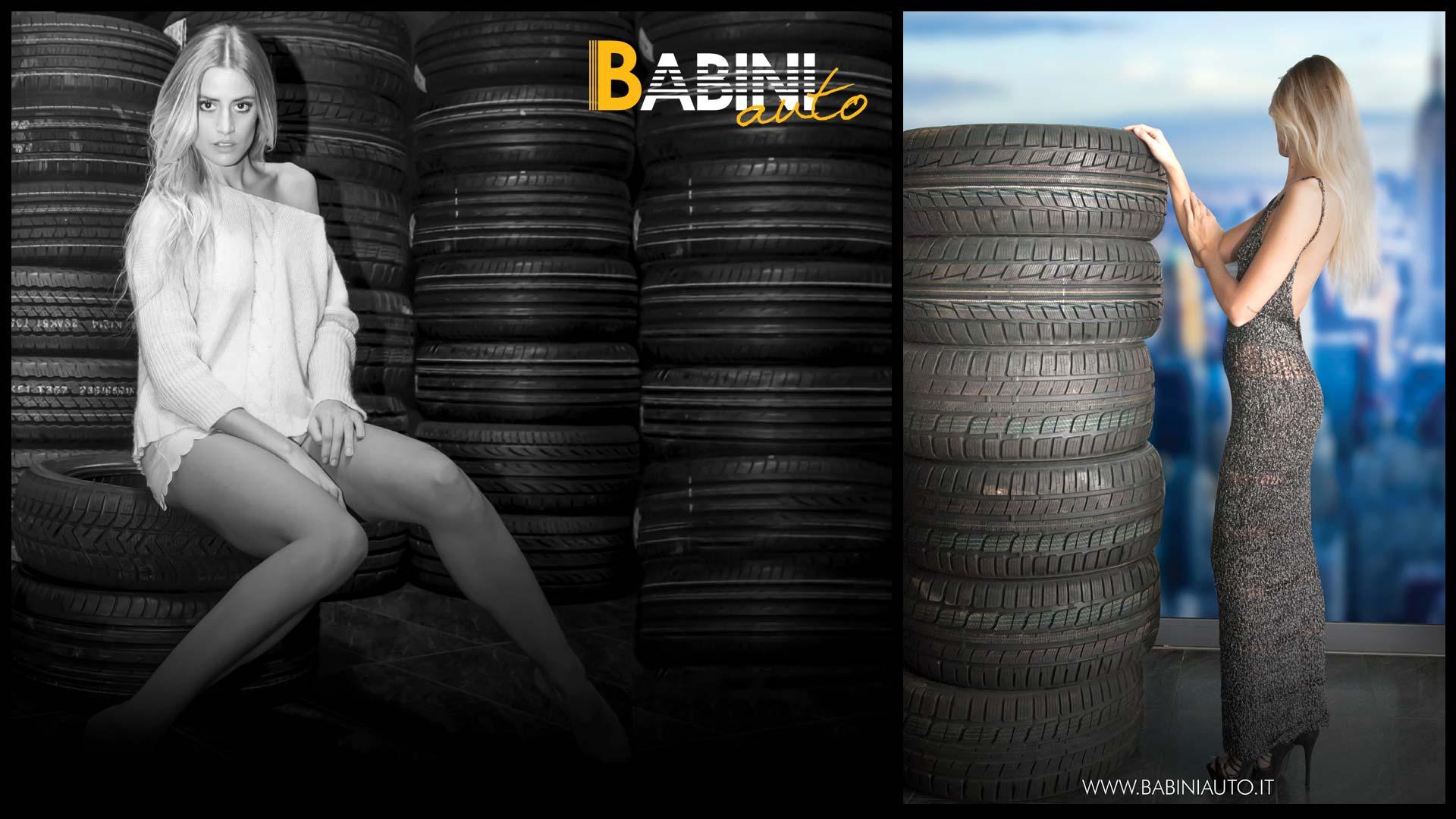 Grafica pubblicitaria La Spezia - Babini auto promozioni con modella