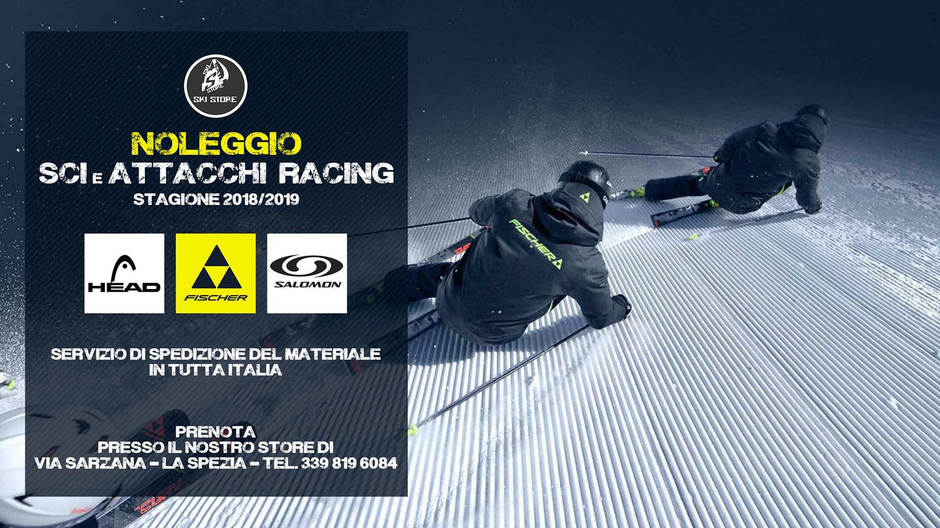 Grafica pubblicitaria La Spezia - ski store volantino