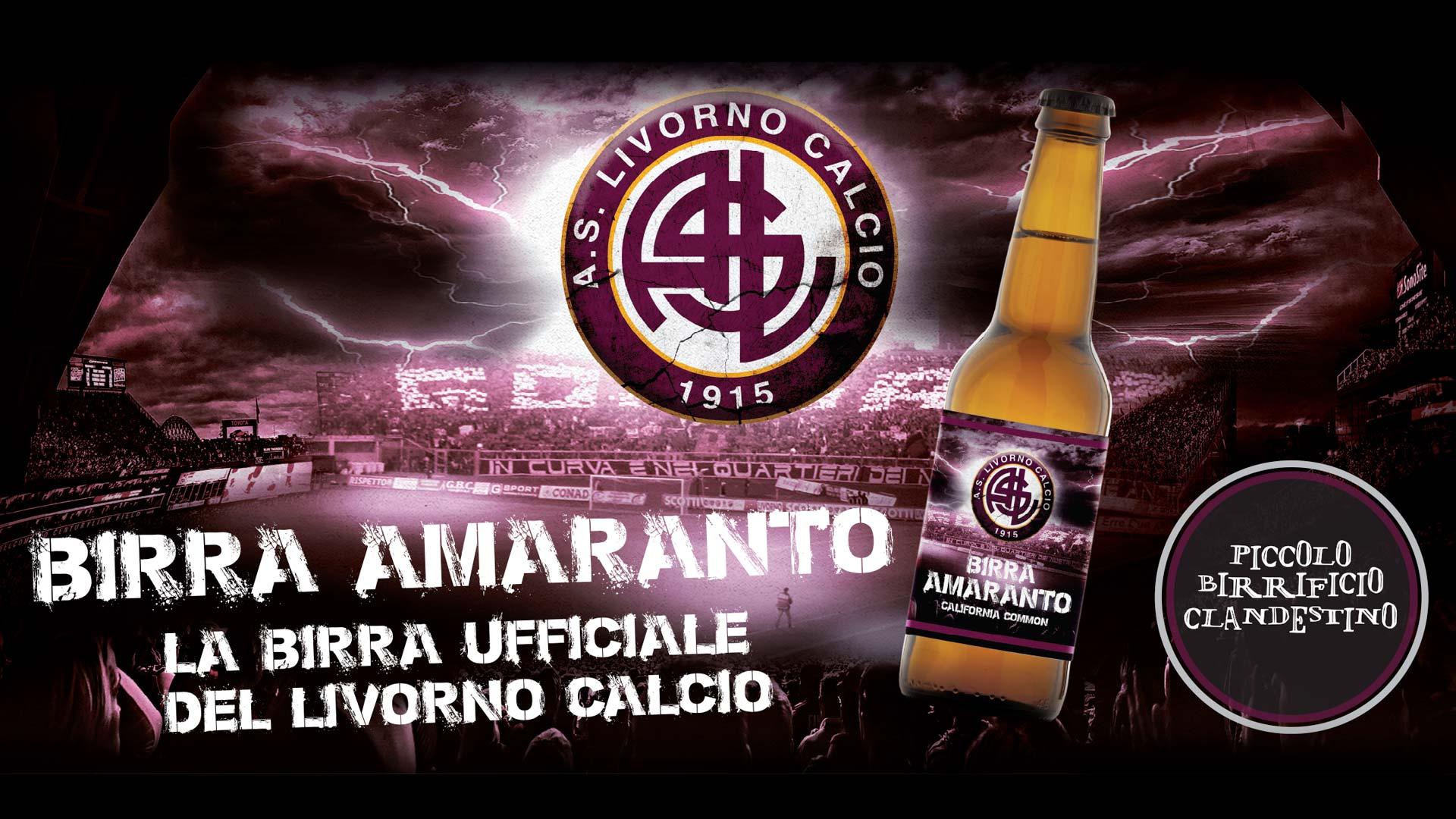 Cartellone Livorno birra - Grafica pubblicitaria La Spezia