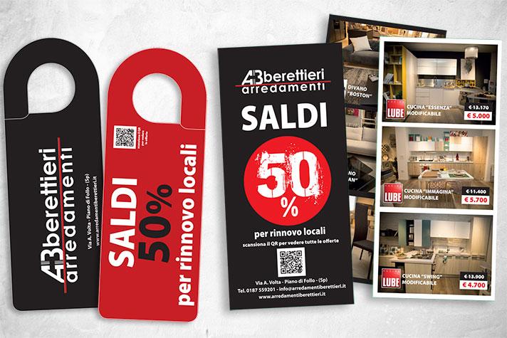 Materiale pubblicitario Arredamenti berettieri